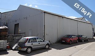 TO LET - Detatched warehouse with yard